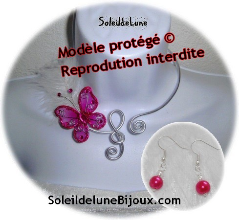 bijou collier mariage Clef de sol - Modèle protégé